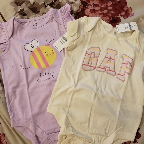 NWT GYMBOREE Baby Girl Bodysuit Tee Top Shirt New Body Suit Short Sleeve